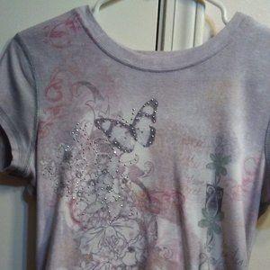 Apt 9 Rhinestone Butterfly T-Shirt